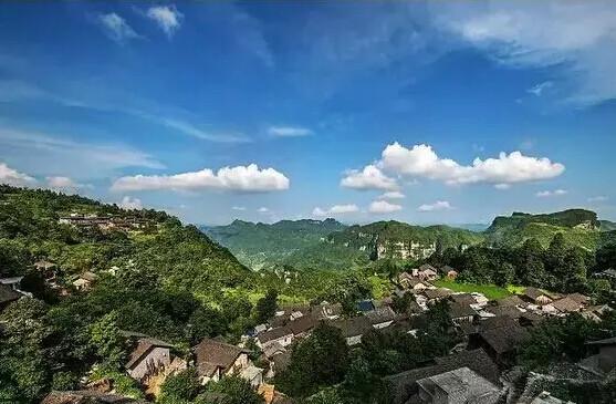 花垣县排料乡金龙村自然风景优美